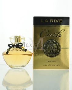 La Rive Cash for Women Eau de Parfum 3 oz La Rive Cash, Woody, Pomegranate, Lotus, Orchids, Amber, Perfume Bottles, Fragrance, Middle