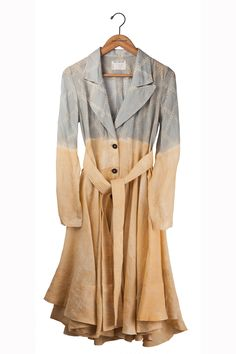 gary graham - ramie coat in light wall Gary Graham, Fit And Flare Coat, Green Tops, Bright Pink, Wall Lights, My Style, Pretty, Sleeves, How To Wear