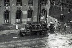 rainy day, Shanghai street, 1947