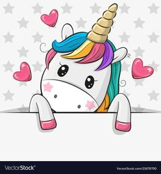 Cartoon Unicorn Art Emoji Funny Beautiful Magical