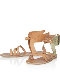 Ancient Greek Sandals Gold Ikaria Winged Leather Sandals | Sandals | Liberty.co.uk