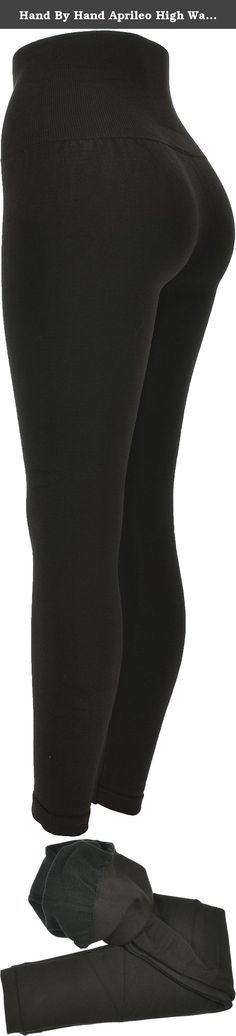 Hand By Hand Aprileo High Waist Legging Lined Tummy Compression Control Top [Brown](One Size). Tummy control compression panel to flatten, smooth, and contour your stomach and waistline. French terry lined for superior comfort and softness. One size: waist (at top):17 (full circumference), front rise:12,hip: 25, inseam:25, firm control waistband:8. Material: 68% viscose, 27% polyester, 5% spandex. product model #: LG4148100.