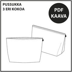 Ilmaiset ompelukaavat Archives ⋆ Page 3 of 3 ⋆ Jujuna Diy Crafts For School, Page 3, Archive, Cards Against Humanity, Letters, Teaching, Sewing, Handmade, Diy Bags