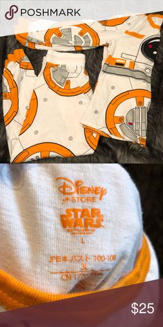 Women's Disney Star Wars bb8 pajamas Size large only worn once super cute Star Wars Intimates & Sleepwear Pajamas