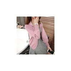 Hooded Cardigan (45 CAD) ❤ liked on Polyvore featuring tops, cardigans, women, pink top, pink cardigan, hooded cardigan, short-sleeve cardigan and cardigan top