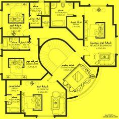 خرائط الفيلا 5 غرف نوم MA-03 - أبعاد المسكن 22.90م عرض * 19.80م عمق