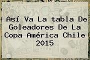 http://tecnoautos.com/wp-content/uploads/imagenes/tendencias/thumbs/asi-va-la-tabla-de-goleadores-de-la-copa-america-chile-2015.jpg Tabla De Posiciones Copa America 2015. Así va la tabla de goleadores de la Copa América Chile 2015, Enlaces, Imágenes, Videos y Tweets - http://tecnoautos.com/actualidad/tabla-de-posiciones-copa-america-2015-asi-va-la-tabla-de-goleadores-de-la-copa-america-chile-2015/