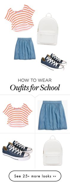 """school"" by smiley-kylie100 on Polyvore featuring PB 0110, Madewell, Rebecca Minkoff and Converse"