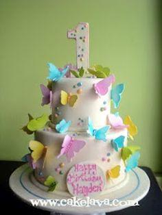 1st birthday butterfly cake