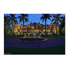 significant beachfront mansion without equal ❤ liked on Polyvore