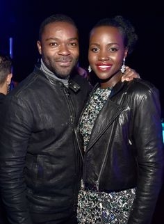 """David Oyelowo and Lupita Nyong'o attend the after party for the World Premiere of """"Star Wars: The Force Awakens"""" on Hollywood Blvd on December 14, 2015 in Hollywood, California."""