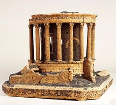 Model of the Roman circular Temple of Vesta at Tivoli, near Rome, by Giovanni Altieri (signed and dated Decoration, Art Decor, Temple, Arch Of Constantine, Architectural Elements, Architectural Models, Central Building, Bank Of England, Renaissance