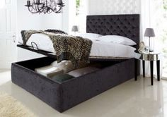 Storage bed taupe suede  http://www.time4sleep.co.uk/beds/storage-beds/ottoman-beds/crown-ottoman-storage-bed