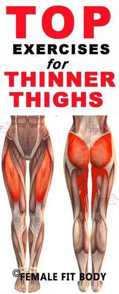 Thigh exercises are the key to slimmer thighs: