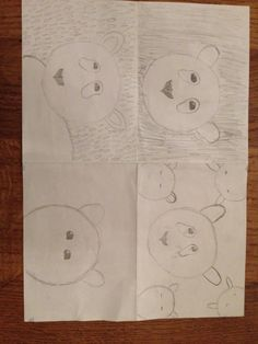dit waren mijn ideeën ik heb hier mijn uitwerking van de panda getekend