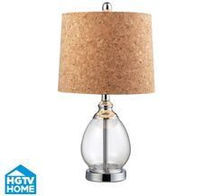 Put a cork in it with this unique lamp featuring a shade made of cork. Think about all the ways you could customize this lamp!