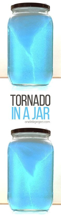This tornado in a jar experiment is crazy simple, but it's SO COOL to watch! It takes less than five minutes to put together. Easiest science lesson ever! #fun_crafts_projects