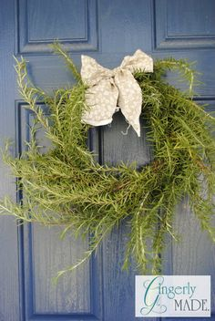 Make a Rosemary Wreath to hang on a door or in your kitchen.
