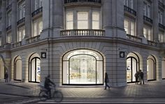 In 2012, Apple opened a store in another historic European location: the Hirsch Building in Amsterdam's Leidseplein Square.