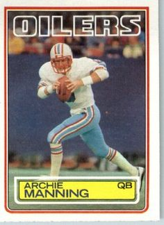 1983 Topps # 278 Archie Manning Houston Oilers Football Card - Shipped In Protective Screwdown Display Case! by Topps. $2.88