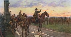 The Last General Absolution of the Munster Fusiliers at Rue du Bois.