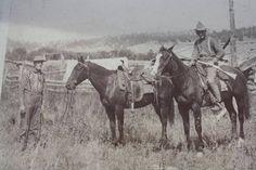Three Cowboys on a Ranch- Circa 1880's