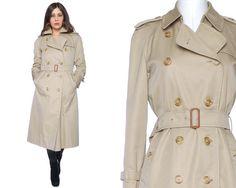 Vintage Burberry's Trench Coat 80s Raincoat by GravelGhostVintage