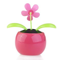Amazon.com: Tinksky Dacing Solar Flower Car Decor Solar Powered Happy Dancing Flower in the Pot Office Desk Display (Pink): Toys & Games