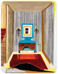 Mickalene Thomas Interior: Striped Foyer 2012 rhinestones, acrylic, oil, and enamel on wood panel x x cm, 108 x 84 x 2 in Interior Art, Painting Inspiration, Painting, A Level Art, Collage Art Projects, Art, American Painting, Contemporary Art, Art History