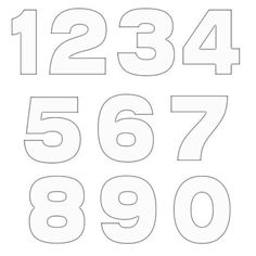 Printable Number Outlines  On One Page  Montessori And