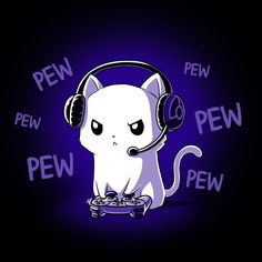 Pew Pew Kitty | Funny, cute & nerdy shirts – TeeTurtle