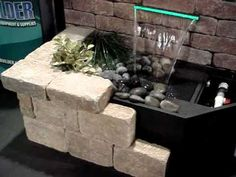 We were looking to create a PondBuilder Formal Falls display without taking up much room in our trade show booth.  Using a vinyl banner, 2x4s and some block, the complete wall waterfall kit was effective and functioned just like an outdoor display model should.  Light weight and easy to build.