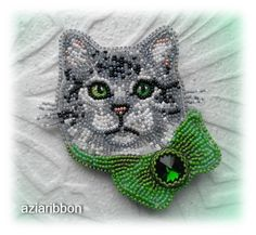 Кот. Просто Кот.   biser.info - всё о бисере и бисерном творчестве