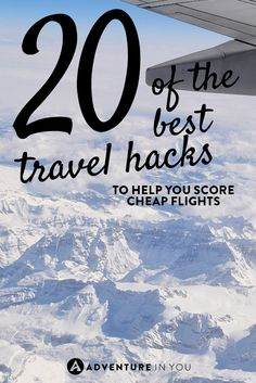 20 of The Best Travel Hacks to Score Cheap Flights Wondering how some people keep scoring cheap flights? Here are 20 of our best travel hacks to help you get the best deal possible! Packing Tips For Travel, Travel Advice, Travel Guides, Travel Hacks, Travel Info, Travel Stuff, Travel Essentials, Nyc, Top Travel Destinations