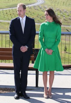 Catherine, Duchess of Cambridge and Prince William, Duke of Cambridge visit the National Arboretum on April 24, 2014 in Canberra, Australia.