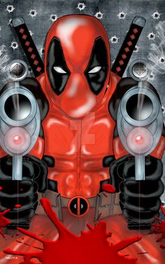 #Deadpool #Fan #Art. (Deadpool) By:Nicitadesigns. (THE * 5 * STÅR * ÅWARD * OF: * AW YEAH, IT'S MAJOR ÅWESOMENESS!!!™) [THANK U 4 PINNING!!!<·><]<©>ÅÅÅ+(OB4E)