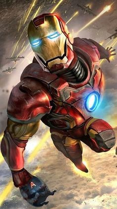 Best Cool Wallpapers Iron Man for iPhone Background HD Marvel Comic Universe, Marvel Dc Comics, Marvel Heroes, Marvel Cinematic Universe, Iron Man Avengers, Avengers Art, Iron Man Art, Iron Man Wallpaper, American Comics