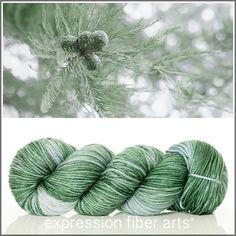 Expression Fiber Arts, Inc. - CYPRESS SUPERWASH DEWY DK yarn - muted silver green