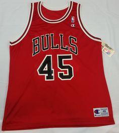 e5153f9db357 Michael Jordan  45 Champion Jersey NWT Chicago Bulls NBA Vintage Rare Mens  48 Vintage Jerseys