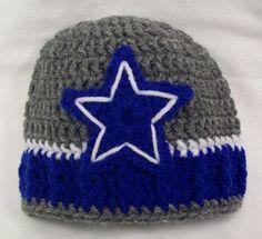 Crocheted Dallas Cowboys hat