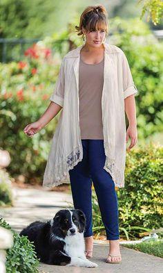 Dove Duster / MiB Plus Size Fashion for Women / Spring Fashion / April Cornell  http://www.makingitbig.com/product/5143