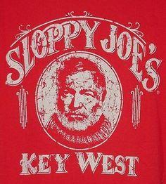 ERNEST HEMINGWAY SLOPPY JOES KEY WEST BAR SALOON BARTENDER SCREENED T-SHIRT XL   eBay
