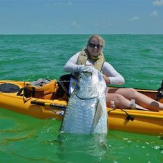Awesome Tarpon from Kayak - I can't imagine landing a fish of this size from such a small boat.