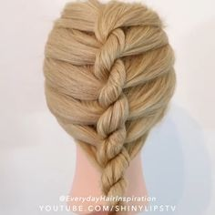 Easy Hairstyles For Long Hair, Braids For Long Hair, Girl Hairstyles, Braided Hairstyles, Style Hairstyle, Hairstyles 2018, Medium Hairstyles, Wedding Hairstyle, Hairdos