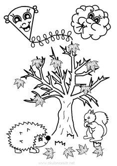 Uçurtma, kirpi, sincap, bulut ve ağaçtan sonbahar boyama sayfası sonbahar etkinlikleri ve okul öncesi sonbahar çalışması sayfaları, mevsimi sonbahar etkinliği boyama sayfası planları örneği mevsimleri Autumn Activities For Kids, Autumn Crafts, Colour Images, Coloring Pages, Fairy Tales, Diy And Crafts, Preschool, Sketches, Clip Art
