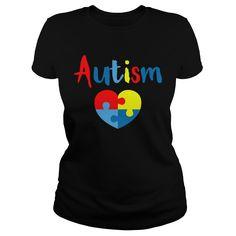 Show your Autism heart shirt - Wear it Proud, Wear it Loud!