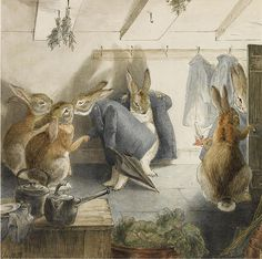 "Artwork by BEATRIX POTTER ""THE RABBITS' CHRISTMAS PARTY"" by sofi01, via Flickr"