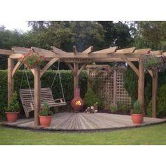Backyard Patio Designs, Backyard Pavilion, Small Backyard Landscaping, Backyard Projects, Small Backyard Design, Garden Projects, Backyard Ideas, Garden Ideas, Small Pergola