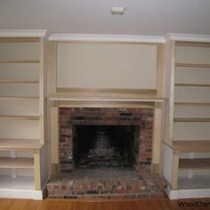 Beautiful Ideas Diy Built In Cabinets Around Fireplace Diy Built In Shelves Around Fireplace Fireplace Cabinets Diy Built Bookshelves Around Fireplace, Built In Around Fireplace, Fireplace Built Ins, Home Fireplace, Bookshelves Built In, Fireplace Remodel, Fireplace Design, Bookcases, Fireplaces