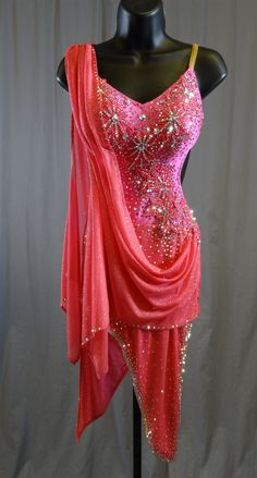 Sexy Pink Drape Latin Dress Latin Dance Dresses & Rhythm Competition Competitive ballroom dancing features the best of the best professional and amateur dancers in the world. Ballroom Costumes, Dance Costumes, Halloween Costumes, Dress P, Lace Dress, Ruffle Skirt, Dance Baile, Dance Tutorial, Latin Ballroom Dresses